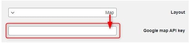 מפה מחייבת לציין Google Maps API Key בתוסף